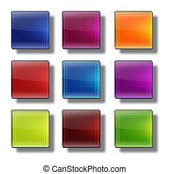 Web buttons- glossy square #01