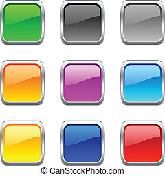 Web buttons. - .Web shiny buttons. Vector illustration.
