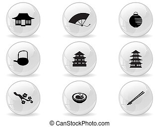 Web buttons, japan icons
