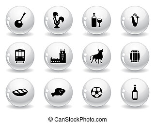 Web buttons, portuguese icons