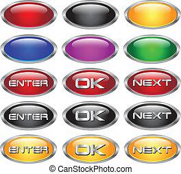 web buttons set.