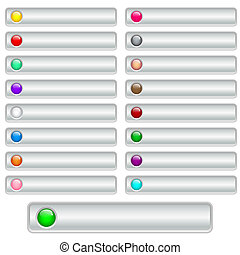 Web buttons silver