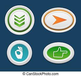 Web buttons vector set.