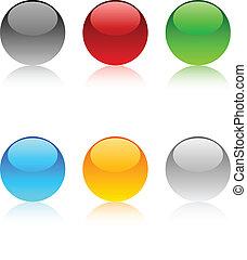 web, buttons.