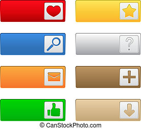 Web buttons with icons