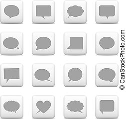Web buttons,speech bubbles icons