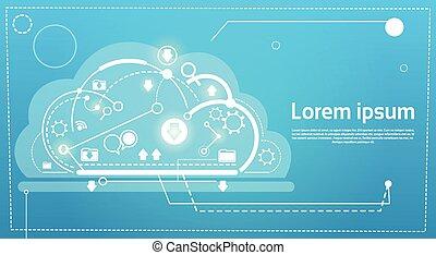 web, calcolare, tecnologia, database, magazzino, servizi, bandiera, nuvola