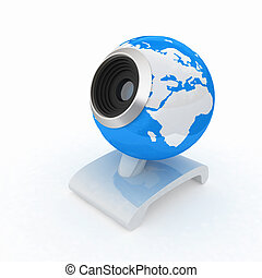 Web-cam for earth.Global on line concept