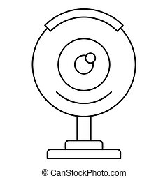 Web camera icon, outline style
