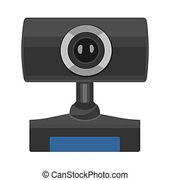 Web camera icon. Vector flat illustration isolated on the white