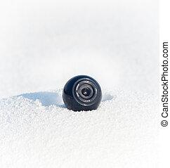 web camera in snowdrift