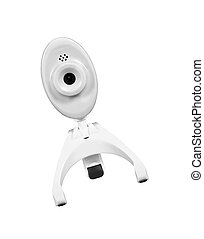 web camera, isolated on white, clipping path included