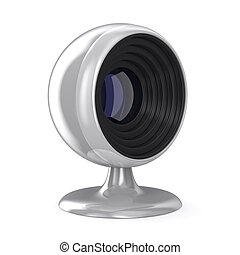 web camera on white background. Isolated 3D image