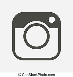 Web camera symbol. - Photo camera icon. Social media sign ...