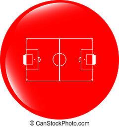 web, campo calcio, bottone, football, domanda, icona, sport