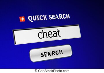 Web cheat