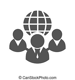 Web client server, clients, globe, web icon vector image. Can also be used for communication, connection, technology. Suitable for web apps, mobile apps and print media.