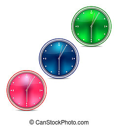 Web clock on a white background