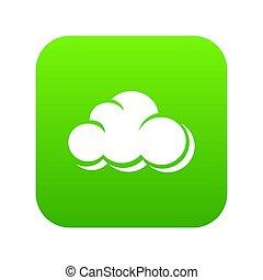 Web cloud icon green