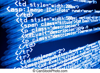 Web code - Real digital program code for a web page in aspx.
