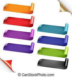 Web Colorful Ribbons Set