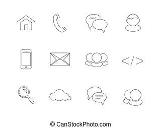 Web, communication icons