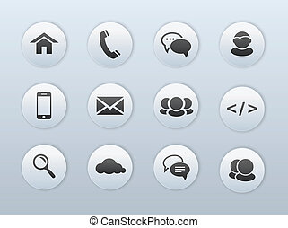 Web, communication icons
