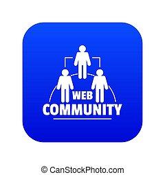 Web community icon blue