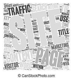 web, concept, eenvoudig, tekst, hoe, wordcloud, verkeer, winst, achtergrond, door, tips