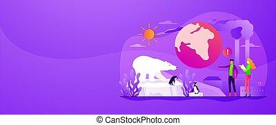 web, concept., globale, bandiera, warming