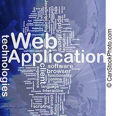 web, concetto, fondo, domanda