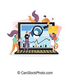 web, concetto, pagina, marketing, sito web, bandiera, vettore, digitale