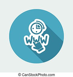 Web connection icon