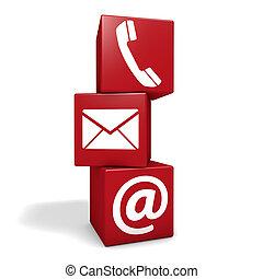web, contacteer ons, blokje