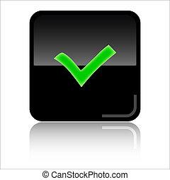 web, controleren, pictogram
