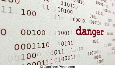 Web danger concept dolly shot