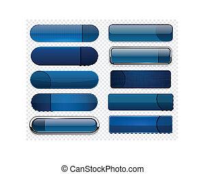 web, dark-blue, modern, buttons., high-detailed