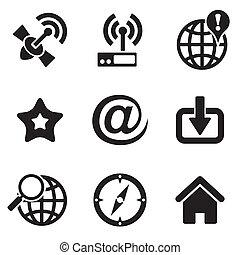 web, de pictogrammen van de computer