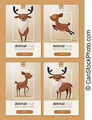 web, deers, 1, ontwerp, dier, spandoek