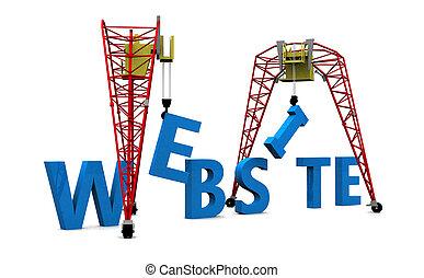 Web Design 3D words.