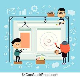 Web design and development. Web site