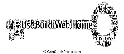 Web Design And The Cookie Cutter House text background word cloud concept