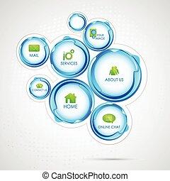 Web Design Bubble - illustration of colorful web design...