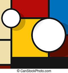 Web design bubble in colors