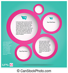 Web Design Bubbles Vector Illustration