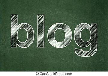 Web design concept: Blog on chalkboard background