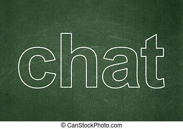 Web design concept: Chat on chalkboard background