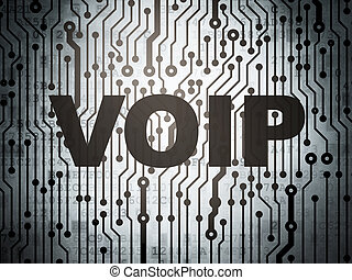 Web design concept: circuit board with VOIP - Web design...