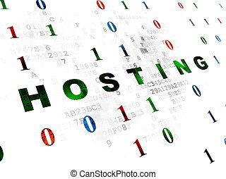 Web design concept: Hosting on Digital background
