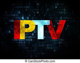 Web design concept: IPTV on Digital background